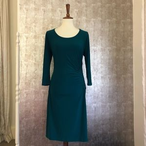 Philosophy Green Side Ruched Dress